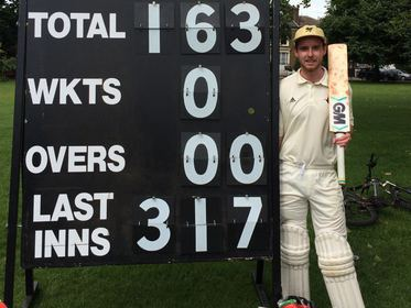 Marcus Bowerman: 163* for Clapton & Oval (v Baring Up)