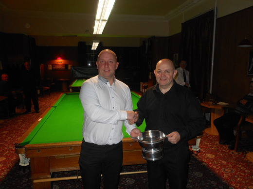 Paul Jamieson receiving the Currie Quaich Singles Championship trophy