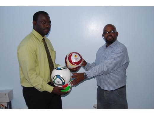 GFA donates footballs to Grenada Child Protection Authority