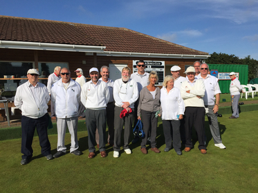 The team from Ludham Bowls Club who were Runners-up in Div 2 and promoted