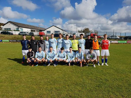 Fahy Rovers before their first ever home game in Fahy