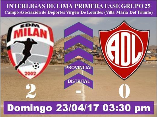 Escuela Milan 2 Defensor Lima FC 0