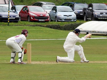 Kristian Garland sweeping vs Haslingden.