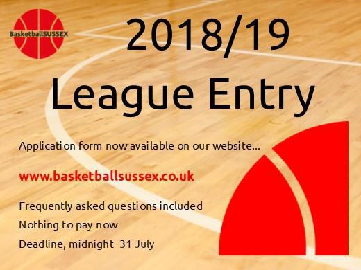 2018/19 League Entry