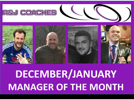 R&J Coaches Manager of the Month- December/ January