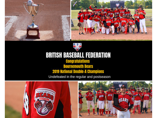 Congratulations Bournemouth Bears, the 2019 Double-A National Champions