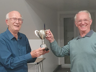 Ken accepting the Tom Hughes Cup