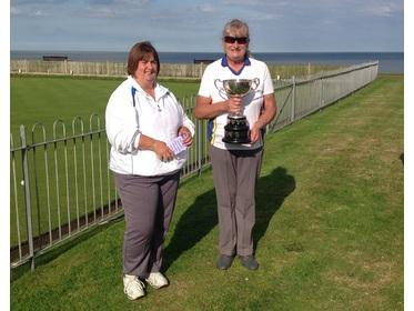 Gorleston Links Ladies Captain with the League Winners Cup 2017