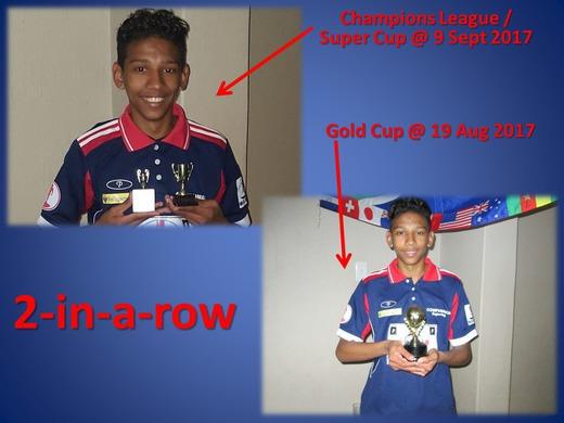 CHAMPIONS LEAGUE + GOLD CUP : Jayden vd Merwe