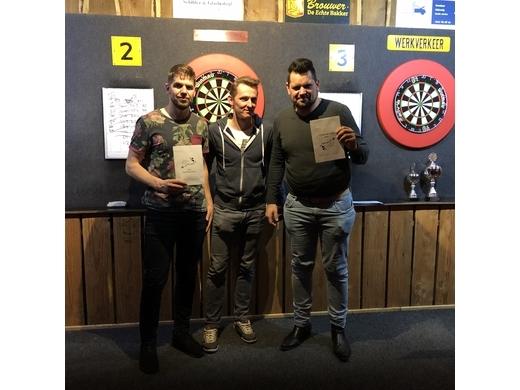 3e van de winnaarsronde: Geert Hemelrijk (l) en Marco Hoorn