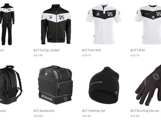 BCT shop for hoodies, running tops, beanies and bags