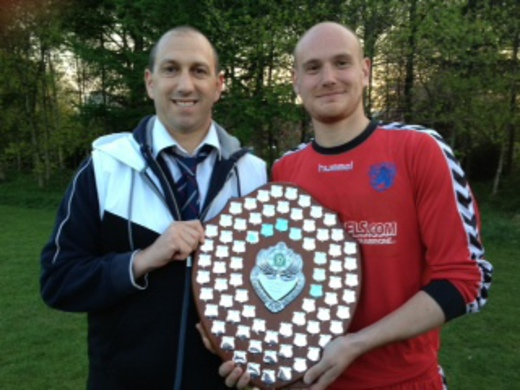 2012-13 Republic of Flixton - MJSL Champions (Sec Jamie Lyons-right)