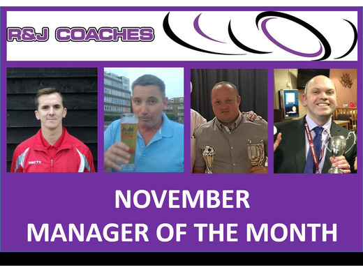 R&J Coaches Manager of the Month- November 2018
