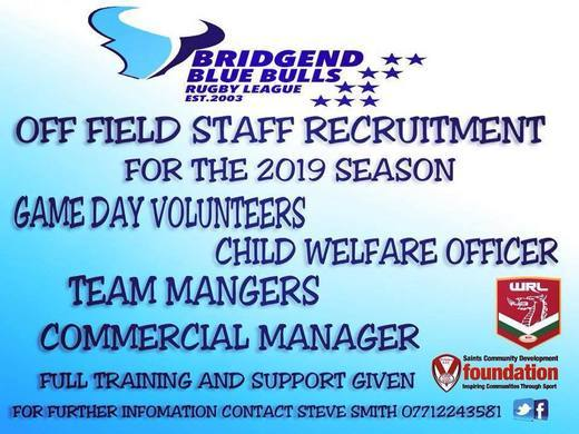 Volunteers  needed for 2019 season