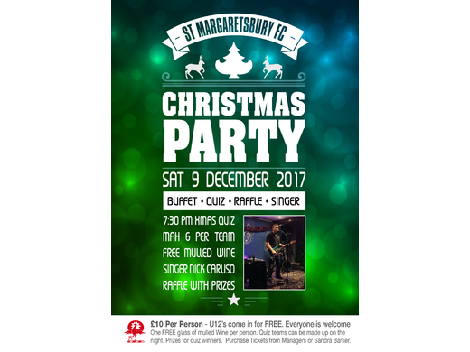 2017 Xmas Party poster