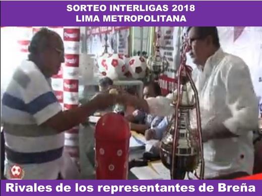 Sorteo de la Etapa Provincial de Lima Metropolitana (Interligas).
