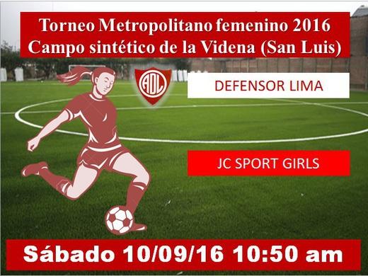 Defensor Lima vs JC Sport Girls