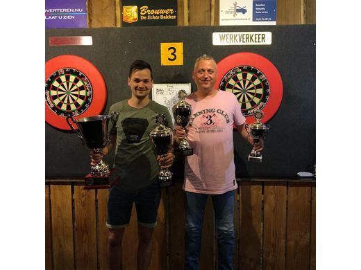 Gezellige seizoen afsluiting en prijsuitreiking /  Dirk Schenk clubkampioen van b-poule