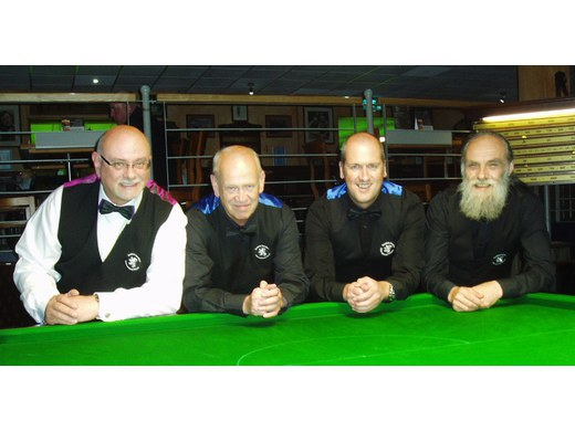 Alan Shepherd and Doug Melrose + Billiards Team mates: Leeds (August)