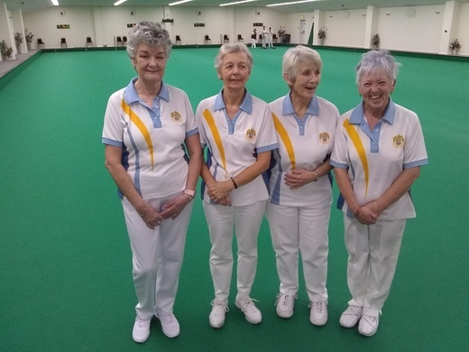 County Fours winners - Catherine King, Jan Roberts, Janet Grundy & Joy Penberthy