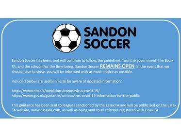 Sandon Soccer Remains Open