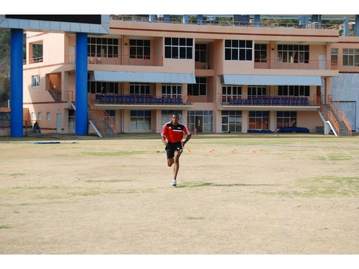 Kuan Budd completes FIFA Fitness Test successfully.