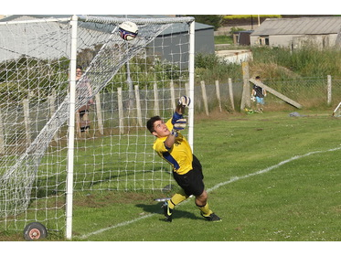 Cameron McConnachie saves James Linklater penalty