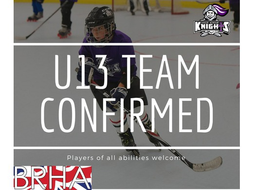 Junior Inline Hockey - U13 BRHA League team confirmed.