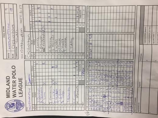 Match sheet