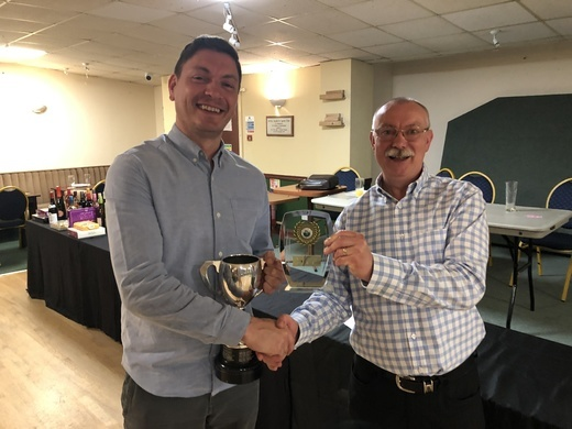 Dean Knight collecting Nutty Charman Trophy
