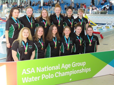 Newton Abbot Under 17 girls bronze medal winners 2017