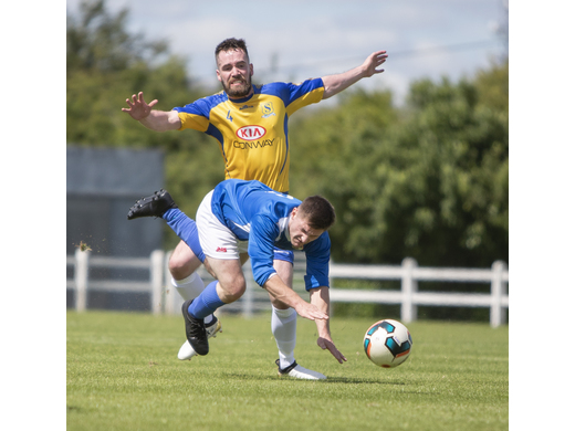 Tuohy Cup Final 2018 - Austin Lacey challenges Chris Reddington