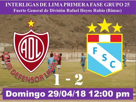 Defensor Lima FC 1 Fraternal Santa Clara 2