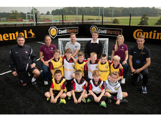 U9 Hawks help launch ContiWarmUp for The FA