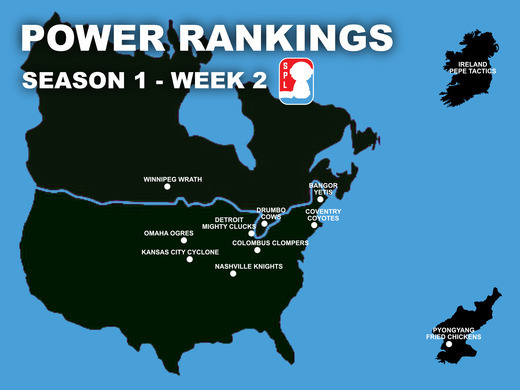 Open Division Power Rankings - Week 2