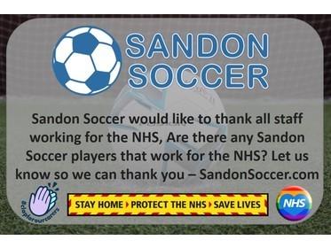 Sandon Soccer - NHS Thank You