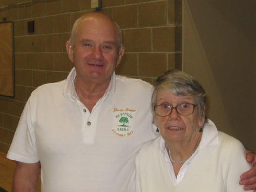 CLUB PAIRS RUNNERS UP 2015 - Gordon & Pam