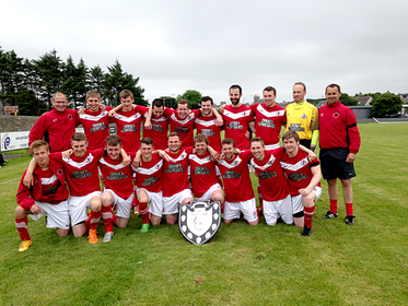 A delighted Orkney with the Archer Shield