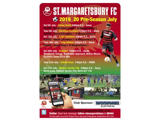 Pre-season UPDATE - 17th July