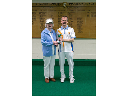 Norma Cureton & Nick Cole - Frank Deves Mixed Pairs Runners-up