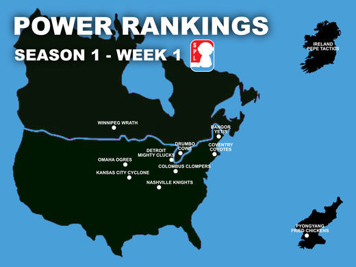Open Division Power Rankings - Week 1