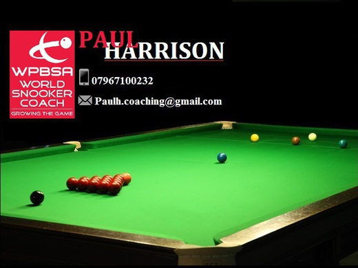 PAUL HARRISON SNOOKER COACH