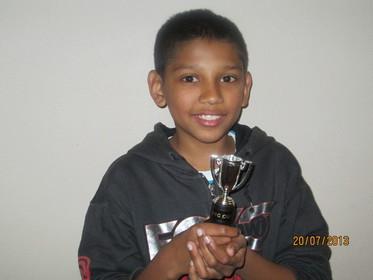 "Jayden wins ""Plate Prize"""