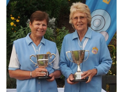Lin Halpin & Margaret Humphries - Ladies Pairs Winners 2017