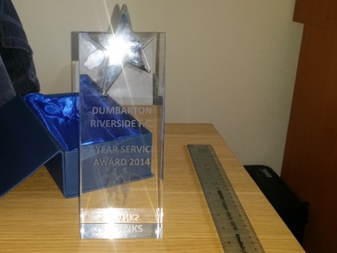 7 year award Scott Banks 2014