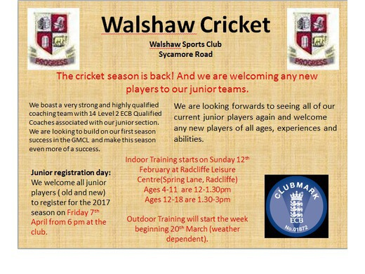 Junior Cricket Flyer new
