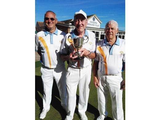 Mick Powell, Mike Gorman & Jim Bradford - Open Triples winners