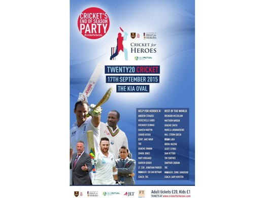 CRICKET FOR HEROES T20 KIA OVAL