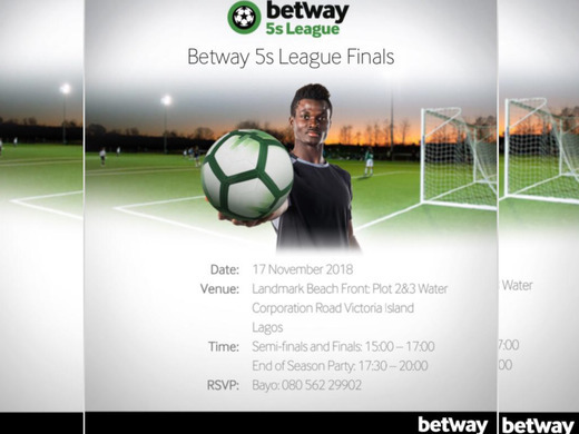 The 2018 betway5sleague finals, set for the 17th of  November.