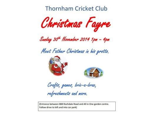 Thornham CC Christmas Fayre